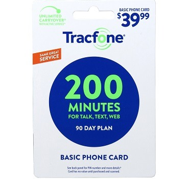 Tracfone 200 minute 39.99