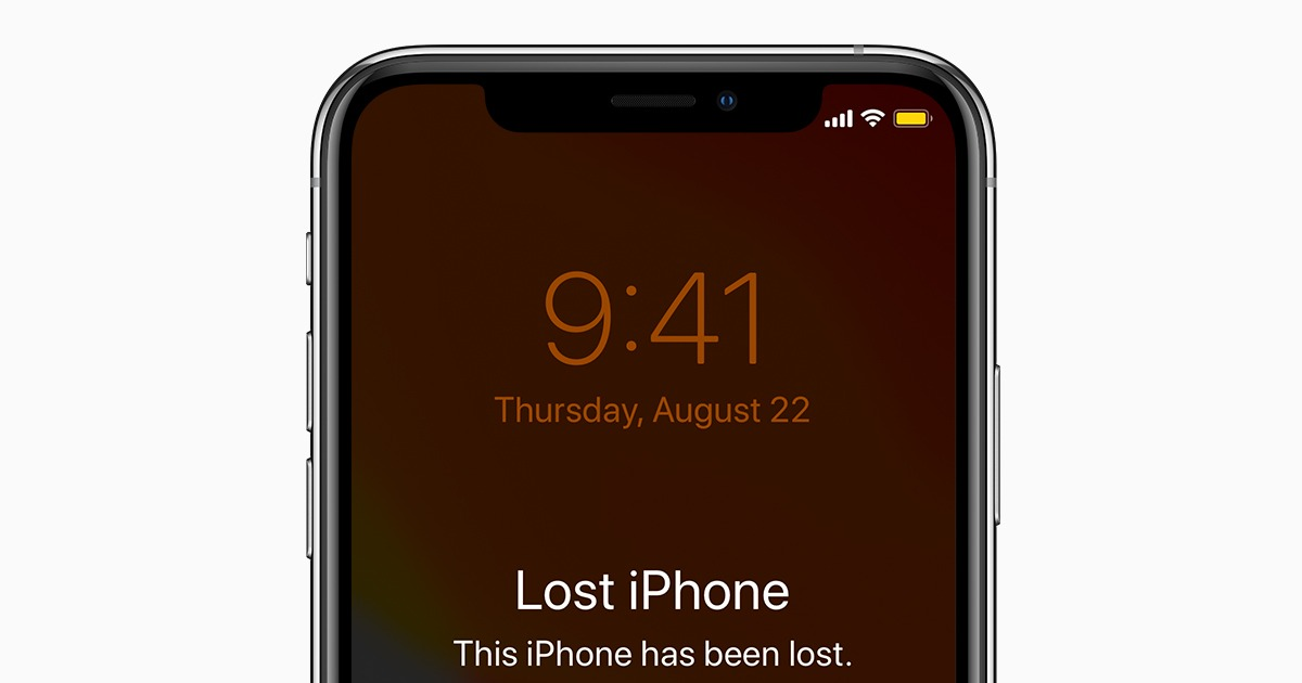 ios13 iphone xs lost mode social card